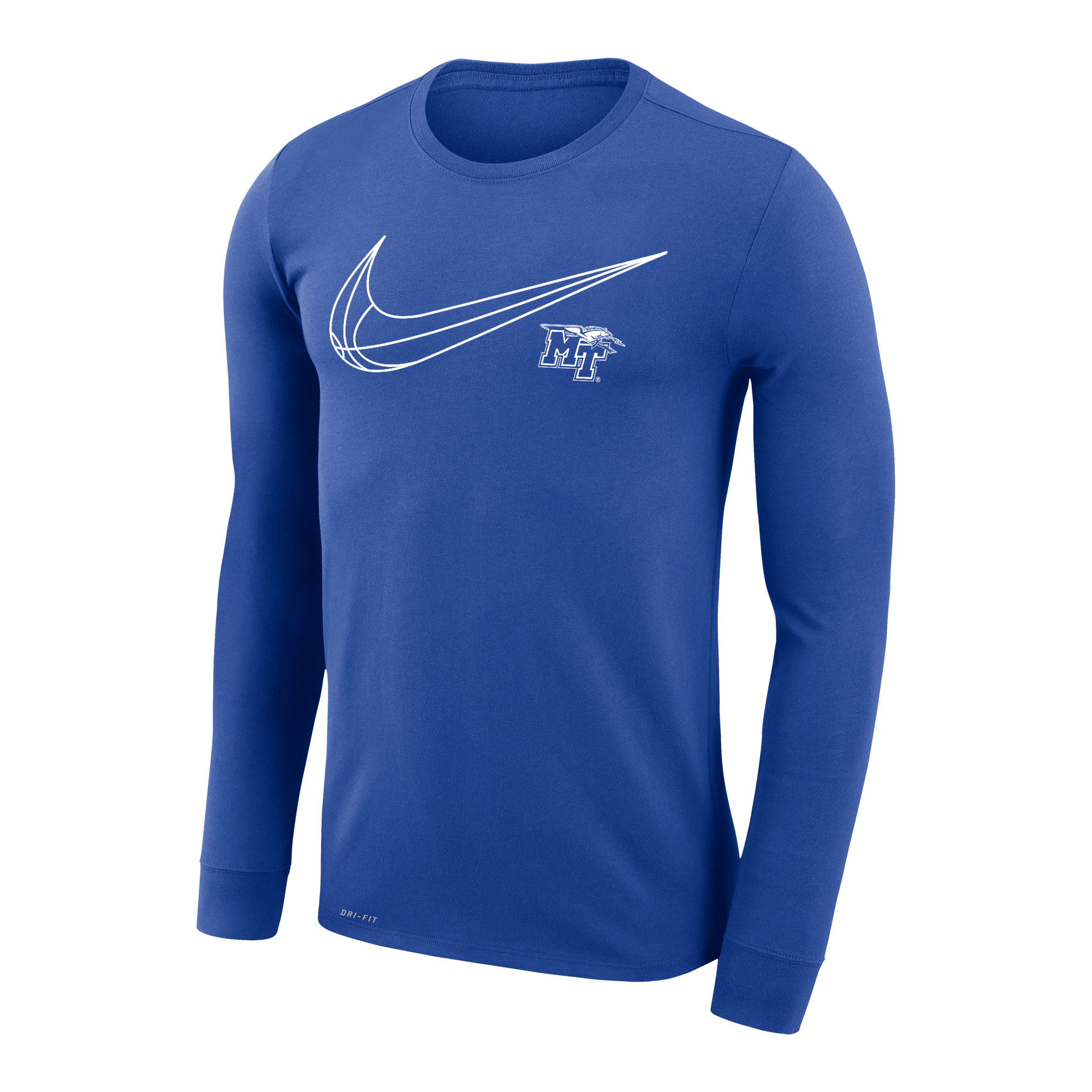 MT Logo w/ Lightning Swish Nike® Dri-Fit Legend 2.0 Long Sleeve Shirt