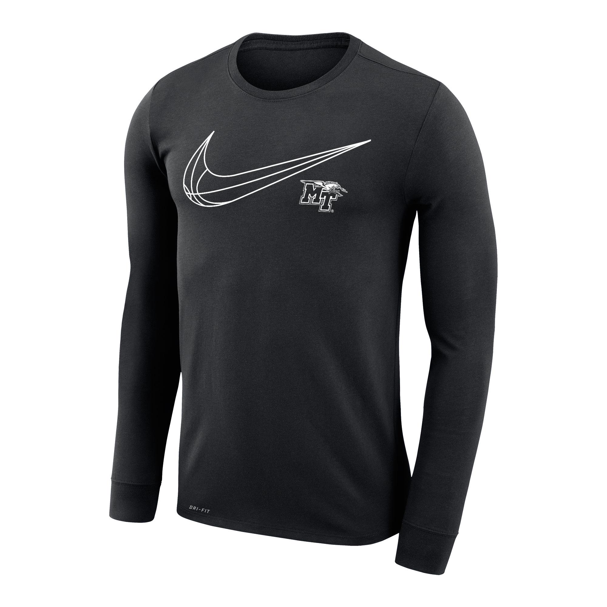 MT Logo w/ Lightning Swish Nike® Dri-Fit Legend 2.0 Long Sleeve Shirt