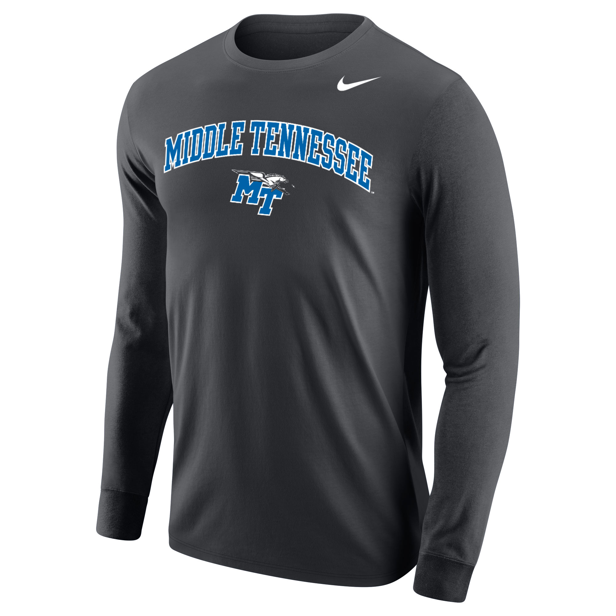 Middle Tennessee MT Logo w/ Lightning Nike® Core Long Sleeve Shirt