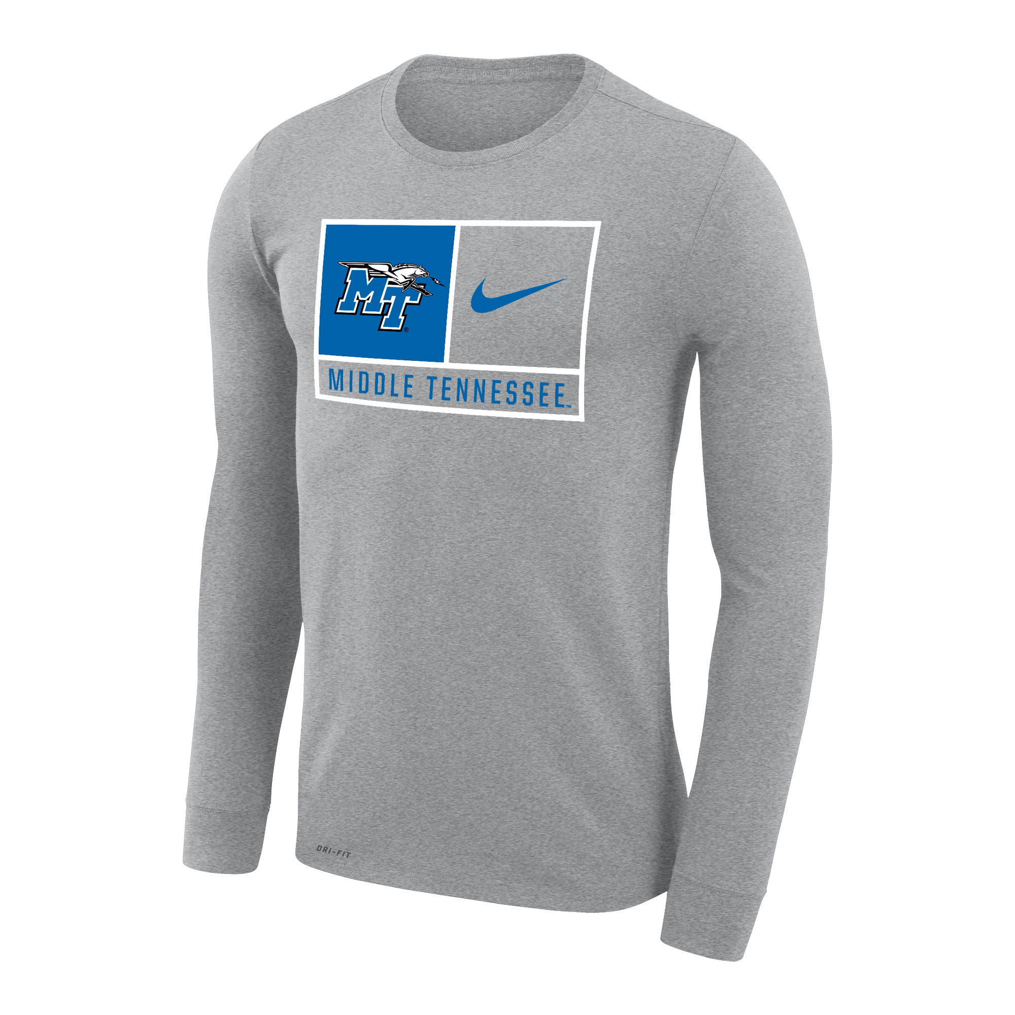 MT Logo w/ Lightning Middle Tennessee Nike® Dri-Fit Legend 2.0 Long Sleeve Shirt
