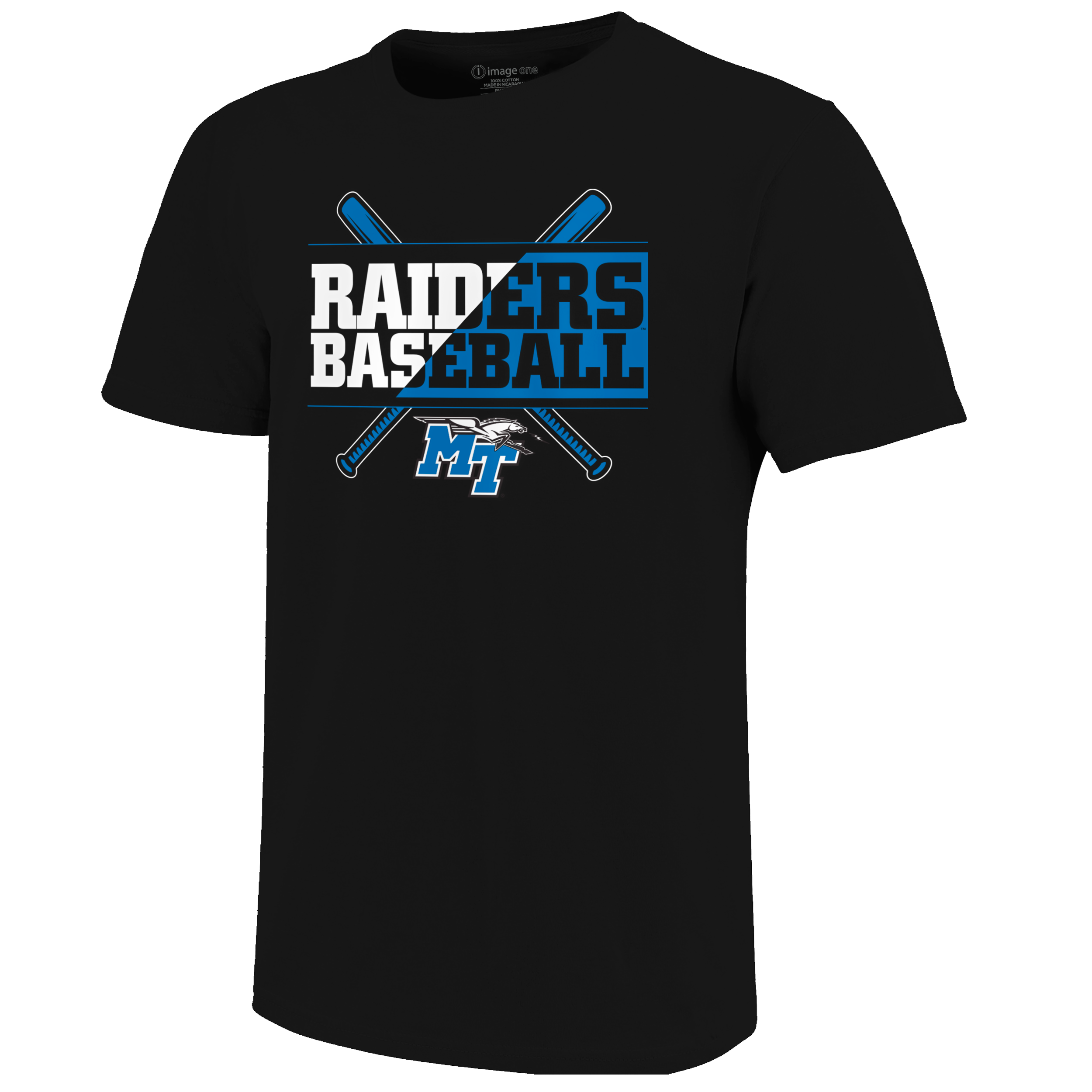 Raiders Text Flip Baseball T-Shirt