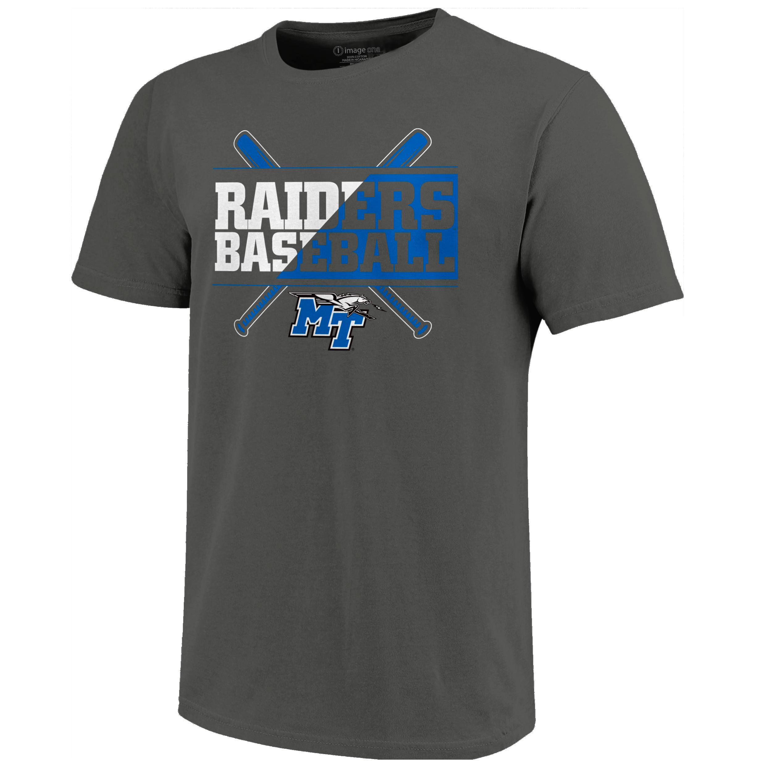 Raiders Text Flip Baseball T-Shirt