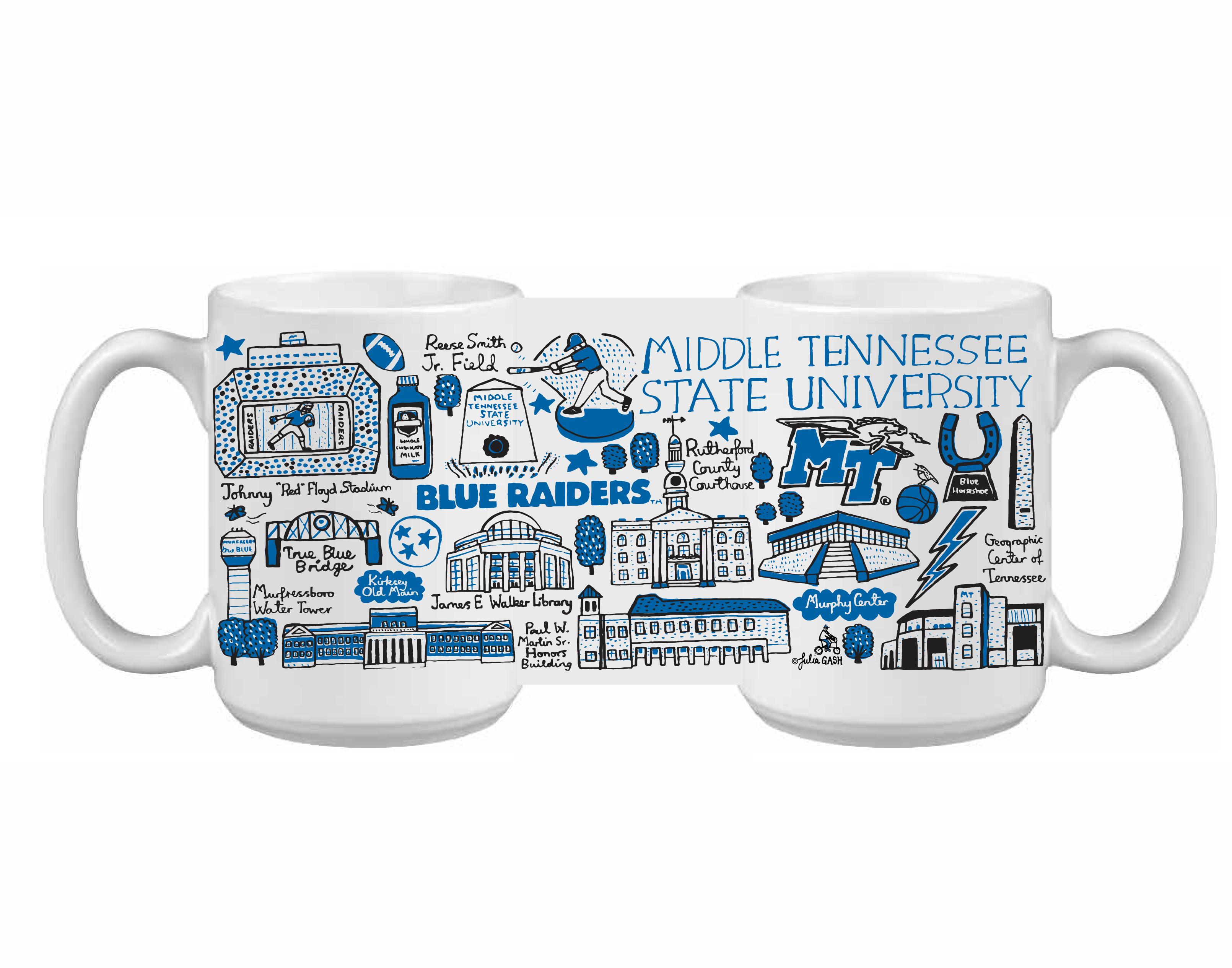 MTSU Julia Gash 15 oz Impact Mug