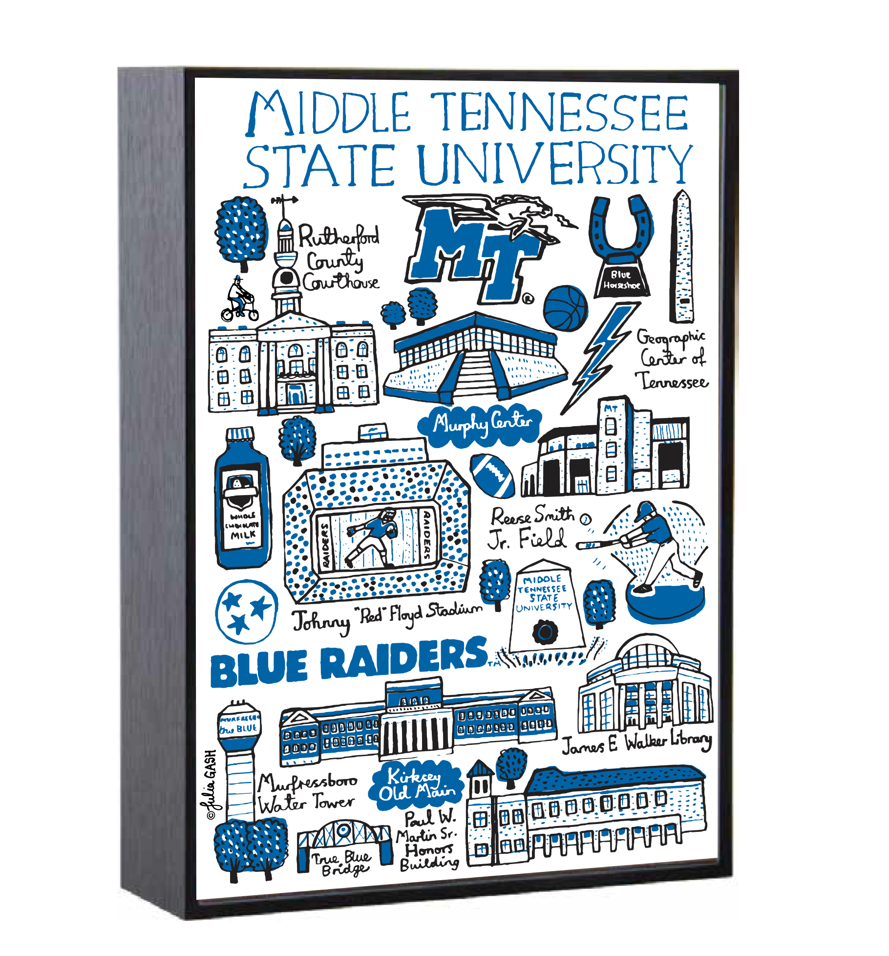 "MTSU Julia Gash 5"" X 7"" Shadow Box Frame"