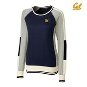 Cal Bears Cutter & Buck Women's Stride Colorblock Sweater