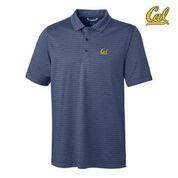 Cal Bears Cutter & Buck Men's Cascade Melange Stripe Polo