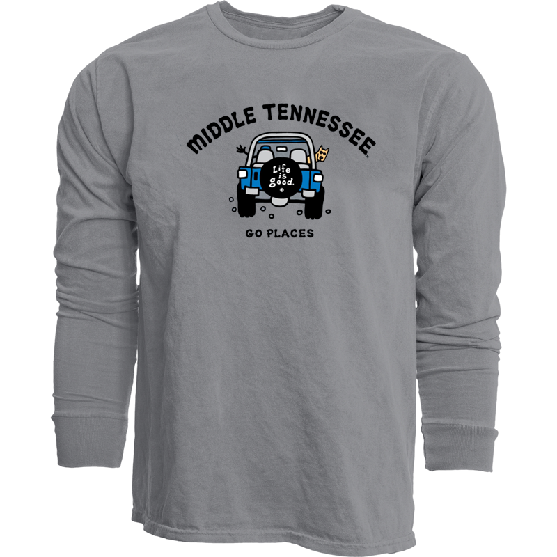 Middle Tennessee LIG Go Places Dyed Ringspun Long Sleeve Shirt