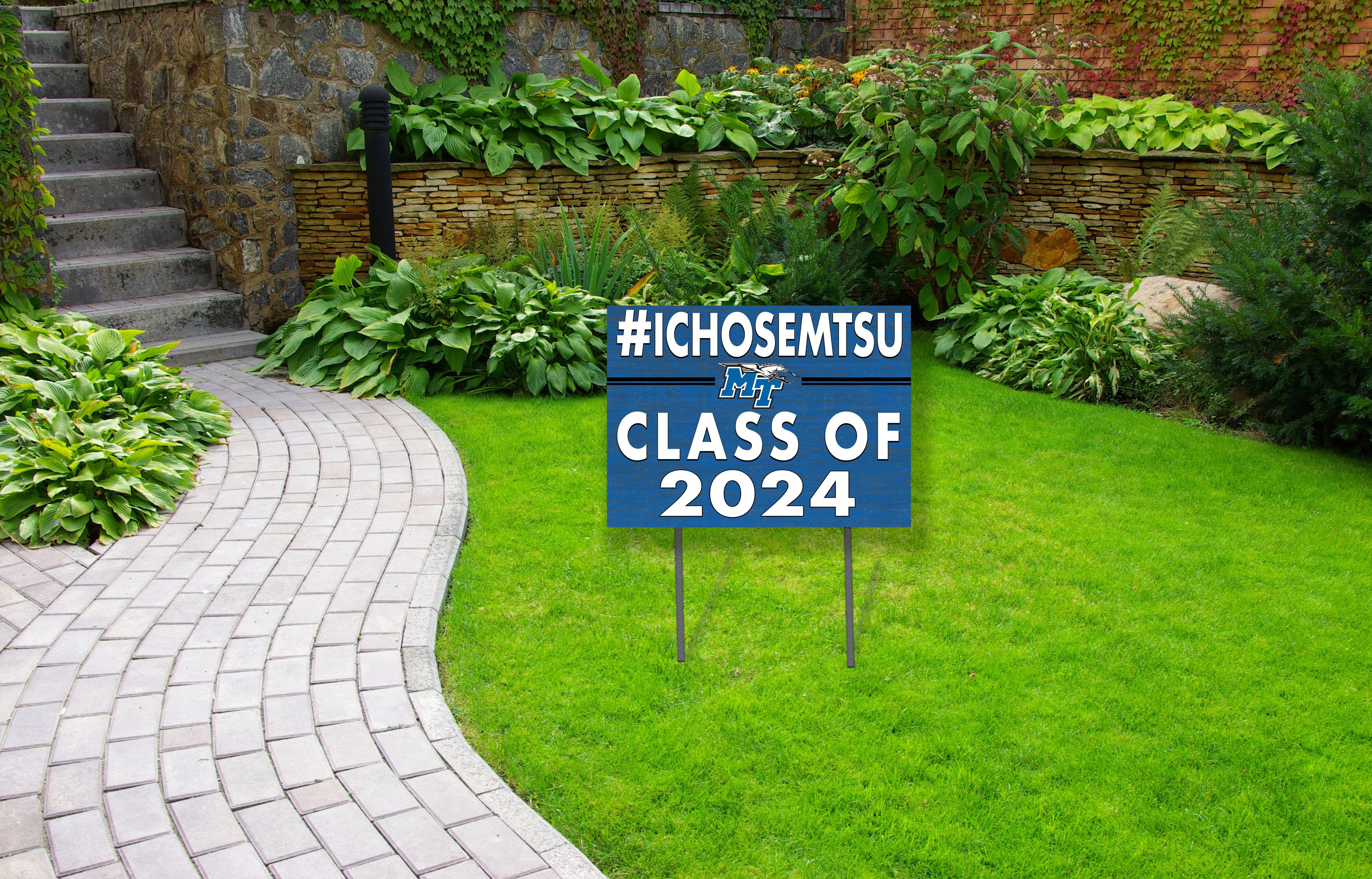 #ICHOSEMTSU 18x24 Yard Sign