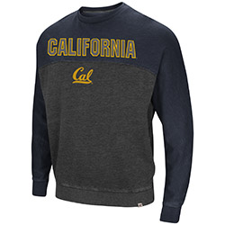 Cal Bears Men's Nice Hit Crewneck Fleece by Colosseum F18