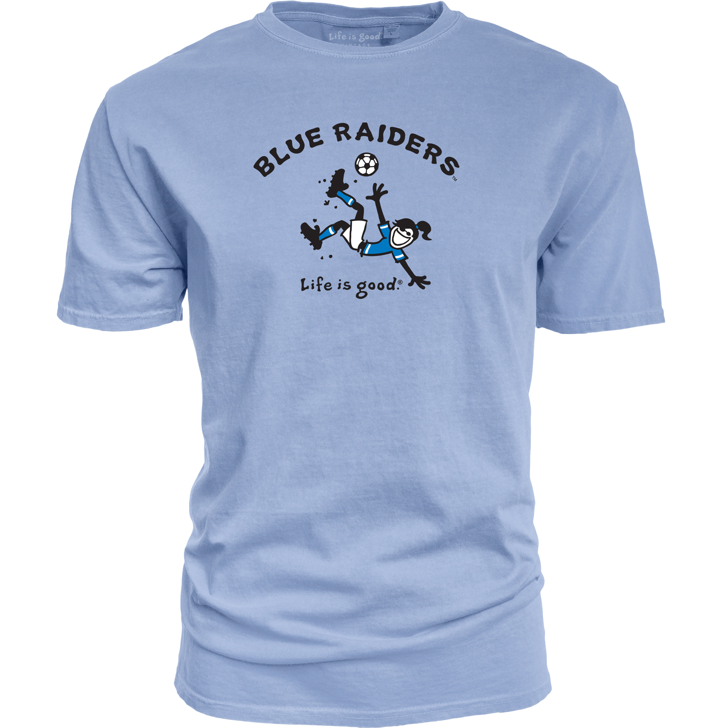 Blue Raiders Life is Good® Soccer Dyed Ringspun Shirt