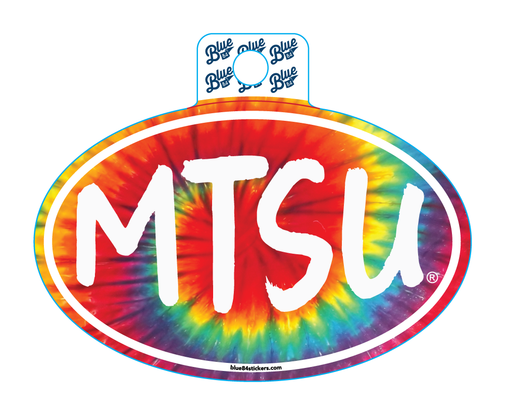 MTSU Tie Dye Oval Sticker
