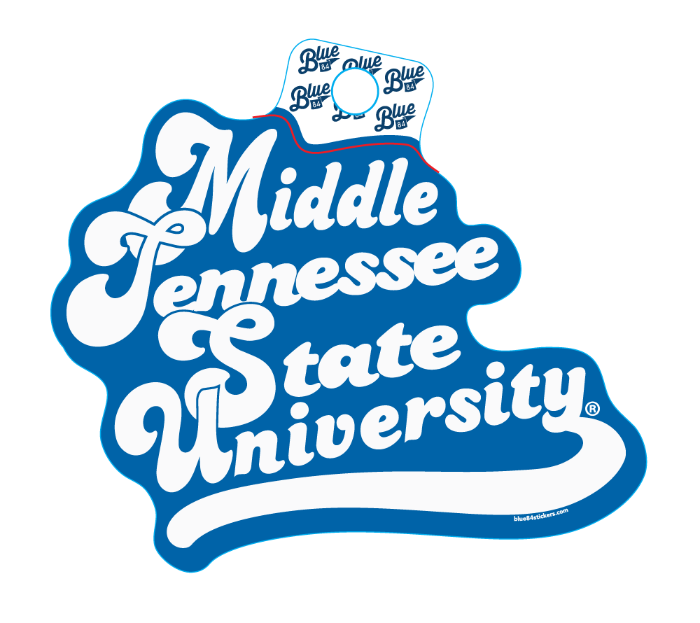 Middle Tennessee State University Huffed Font Sticker