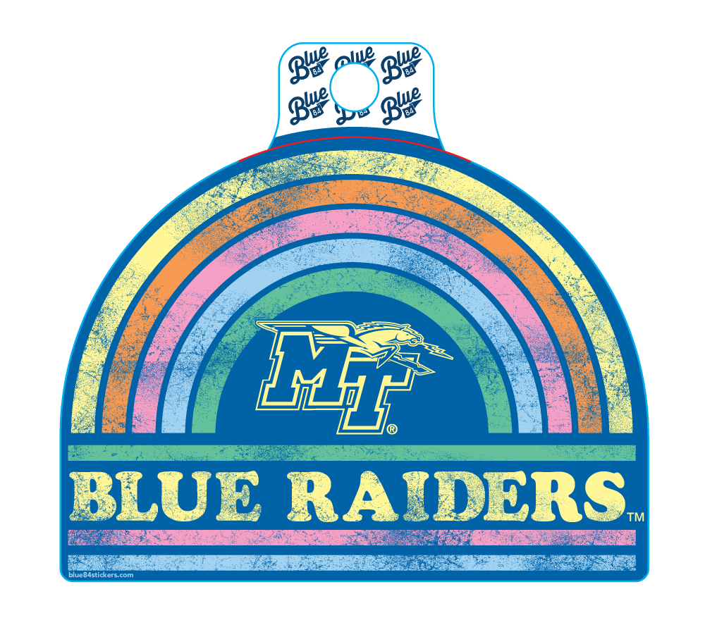 Blue Raiders Mind Trip Rainbow Sticker