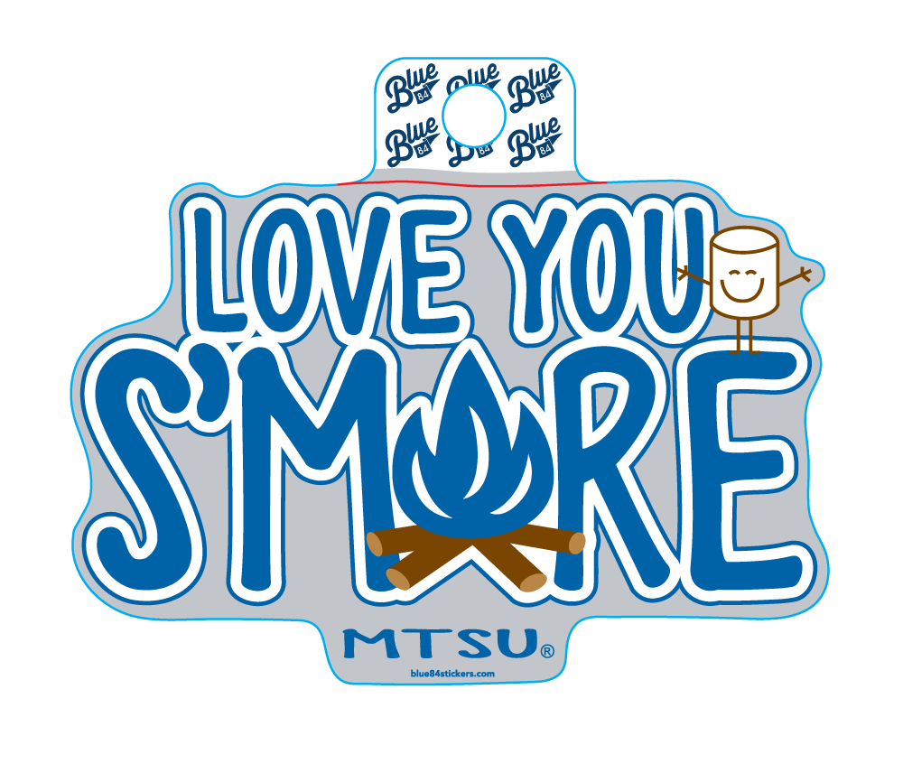 Love You S'more MTSU Sticker