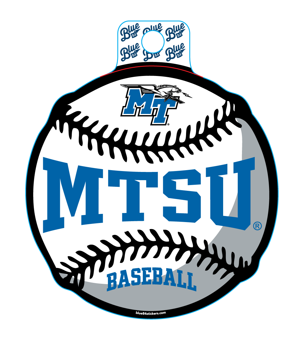 MTSU Educate Baseball Sticker