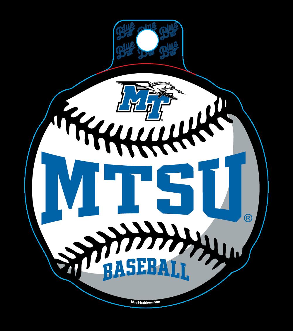 MTSU Educate Baseball Sticker