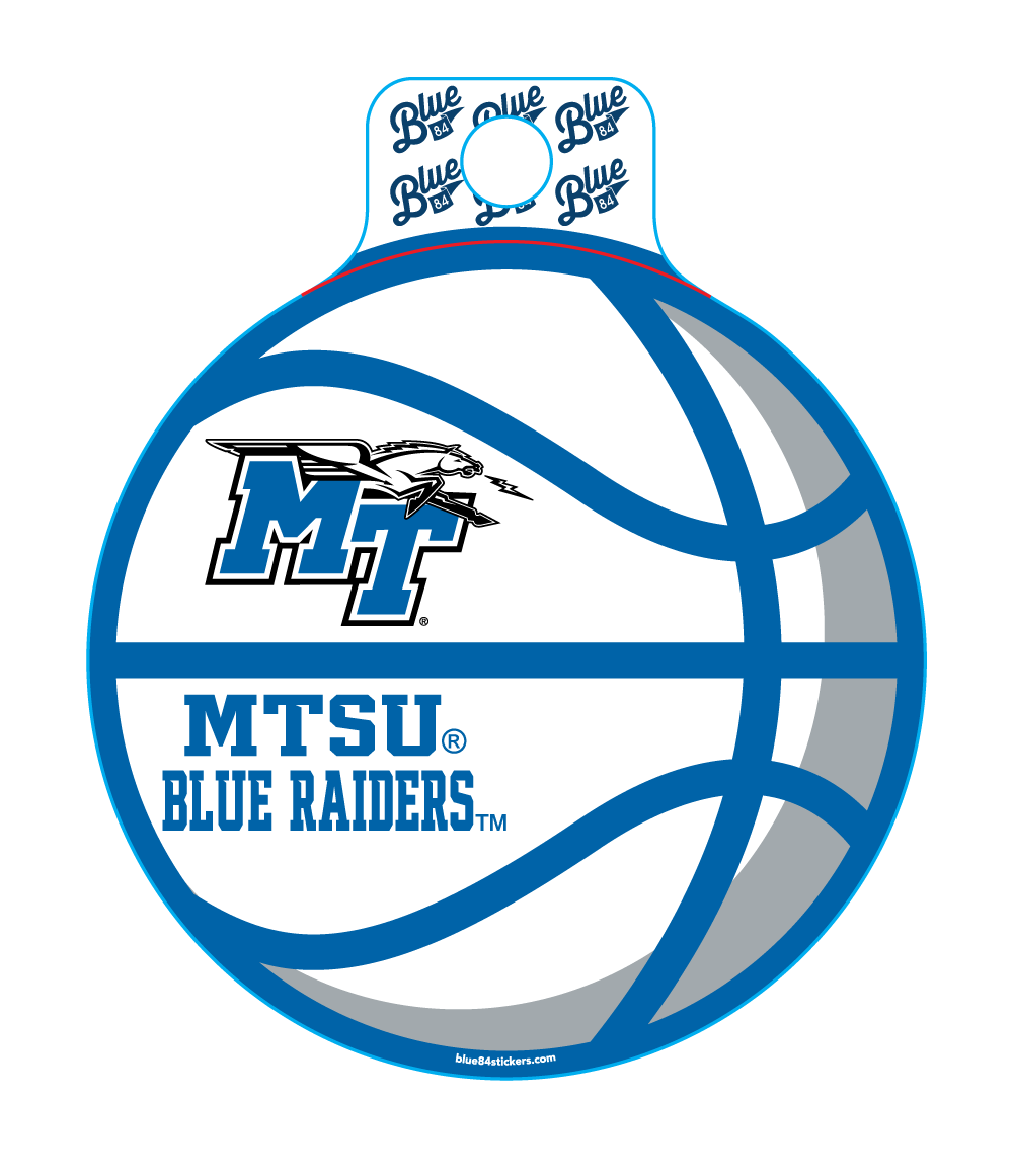 MTSU Blue Raiders Educate Basketball Sticker
