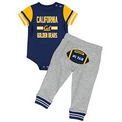 Cal Bears Infant Boys Long Run Football Onesie & Pant Set by Colosseum F18