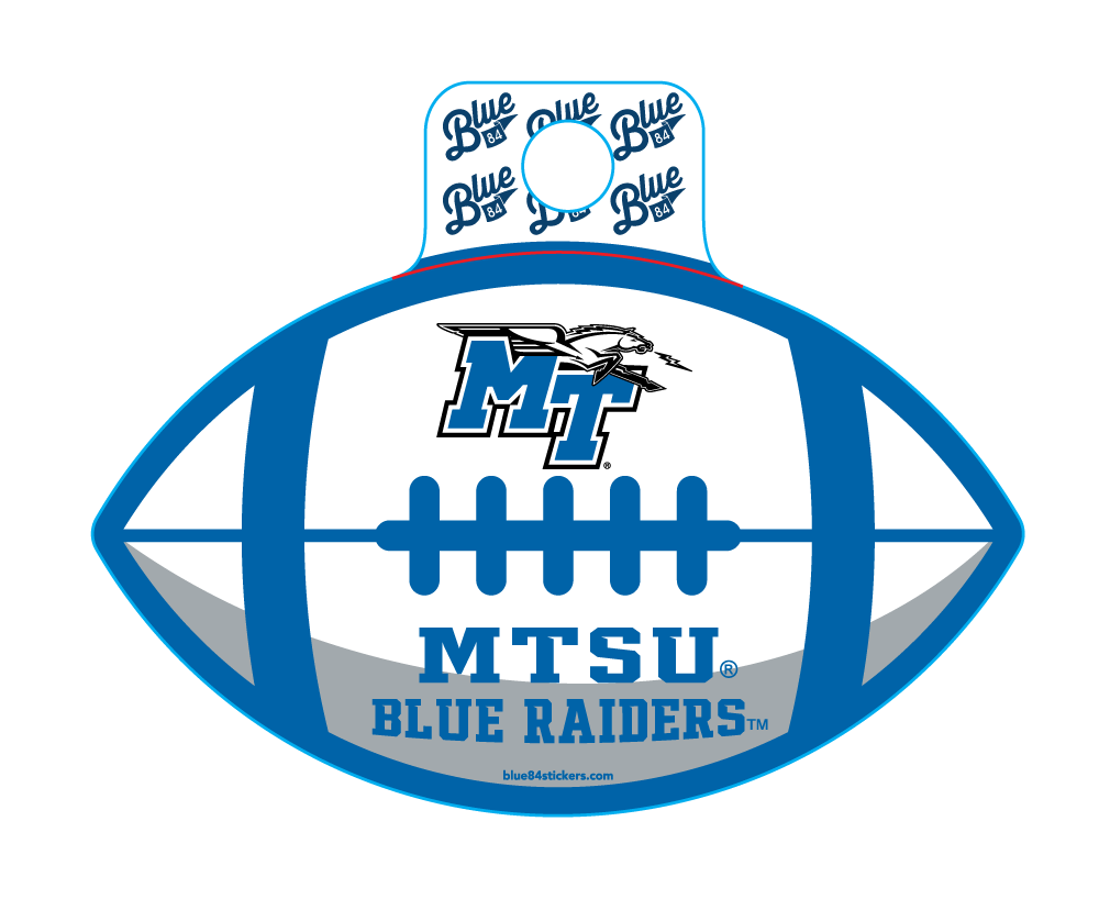 MTSU Blue Raiders Educate Football Sticker