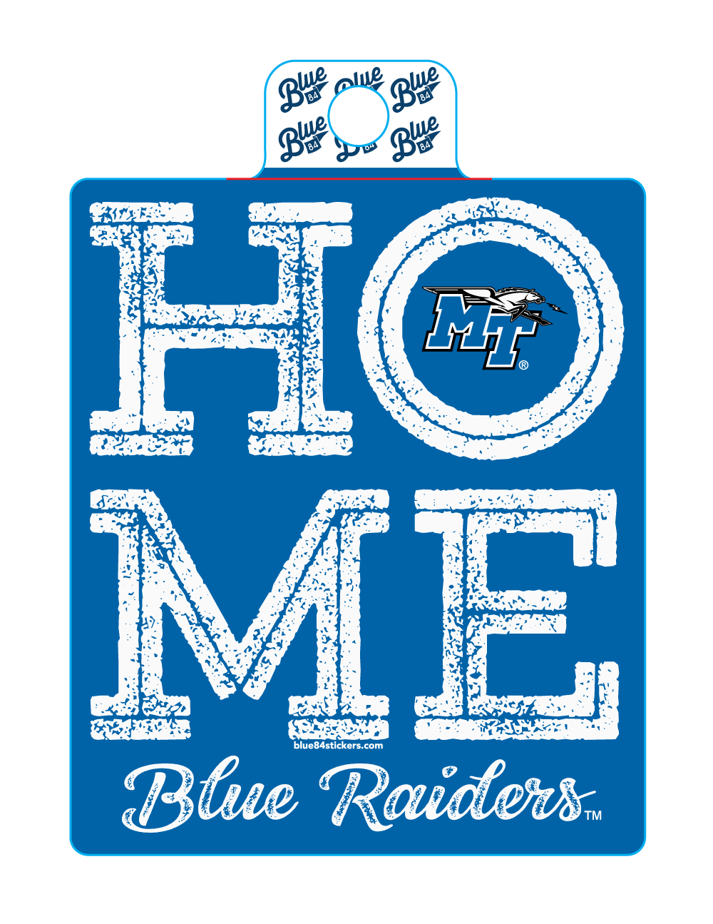HOME Blue Raiders Sticker