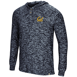 Cal Bears Men's 5 Crawfish Dinners L/S Henley Tee by Colosseum