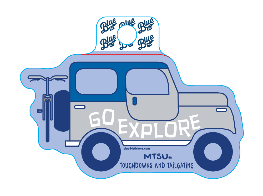 Go Explore MTSU Sticker