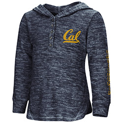 Cal Bears Toddler Girls Helmet Lunchbox Hooded L/S Henley by Colosseum F18