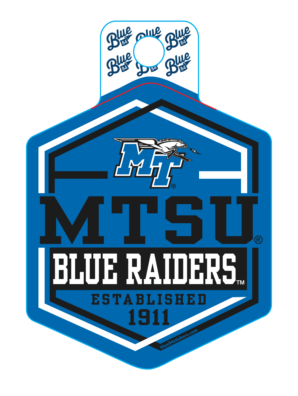 MTSU Blue Raiders Slide Rail Sticker
