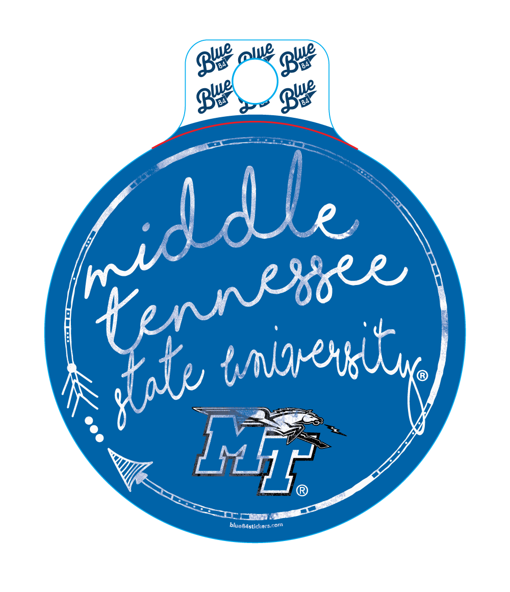 Middle Tennessee State University Script Sticker