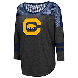 Cal Bears Women's Fina! Oversized 3/4 Tee by Colosseum