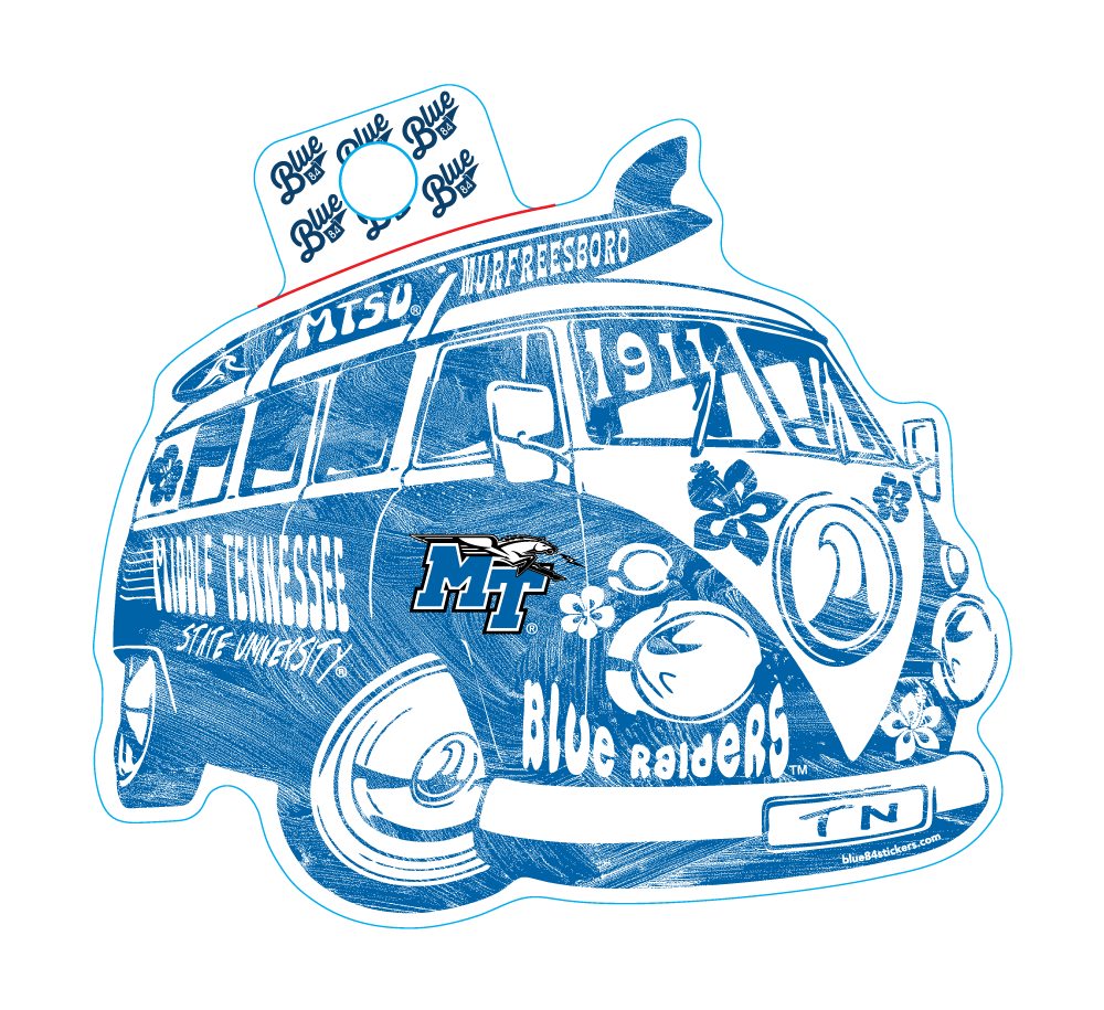 Middle Tennessee Blue Raiders Major Revamp Sticker