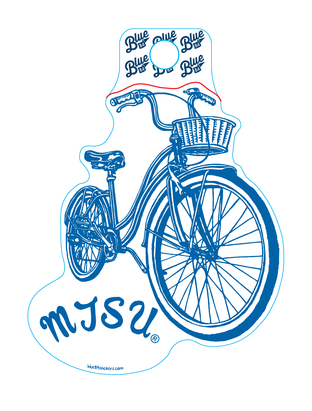 MTSU Timeless Bicycle Sticker