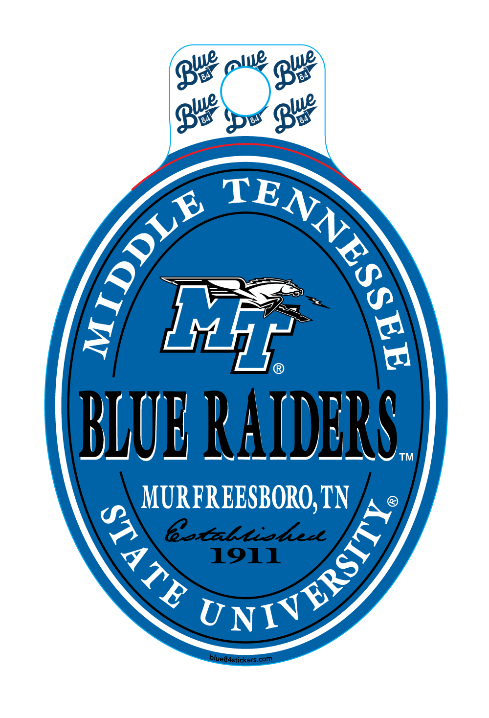 Middle Tennessee State University Brewed Sticker
