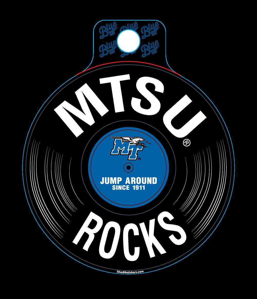 MTSU Rocks Record Sticker