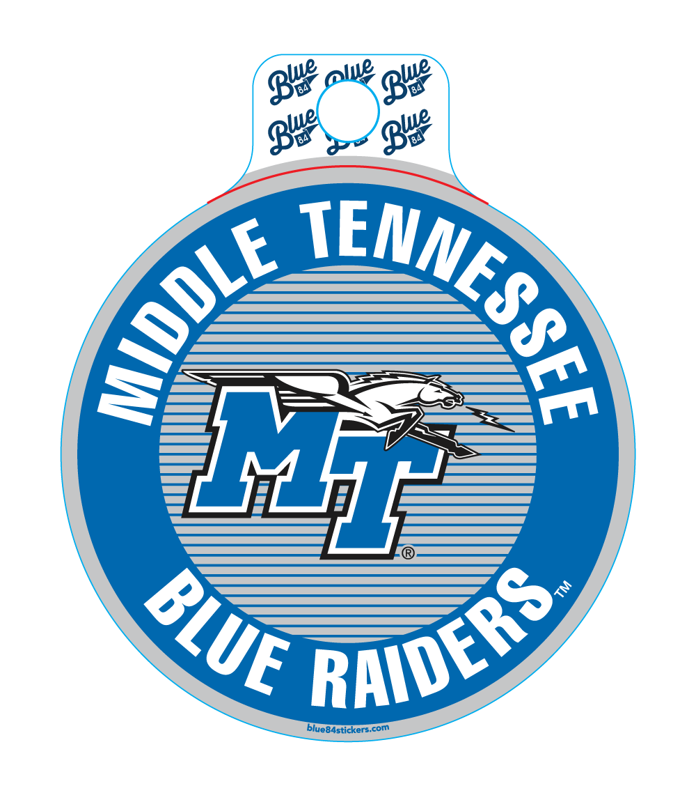 Middle Tennessee Blue Raiders Sonogram Sticker