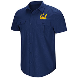 Cal Bears Men's Roberto S/S Woven Shirt by Colosseum