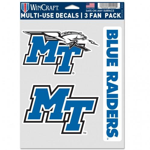 MT Blue Raiders Multi Use - 3 Fan Pack