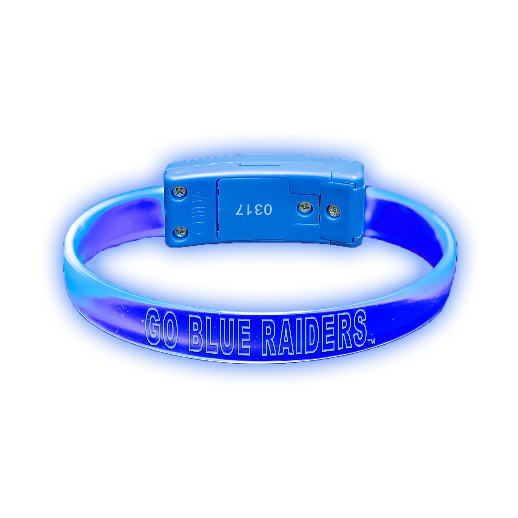 Go Blue Raiders Lightning LED Wristband