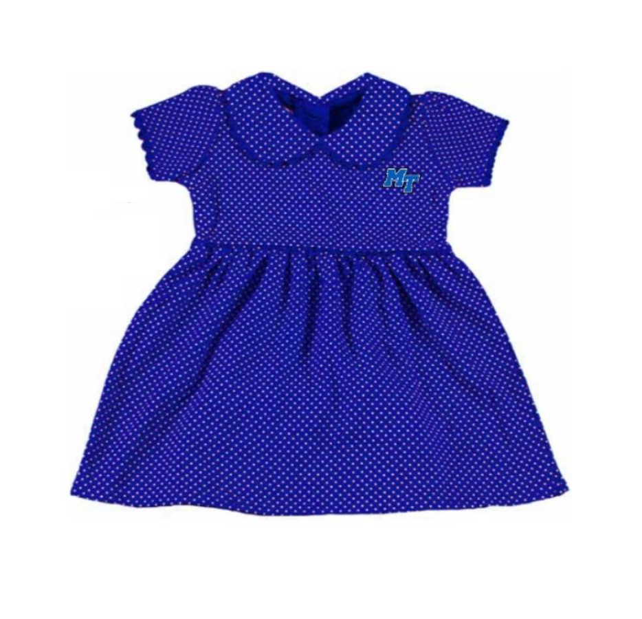 MT Logo with Lightning Toddler Peter Pan Dress