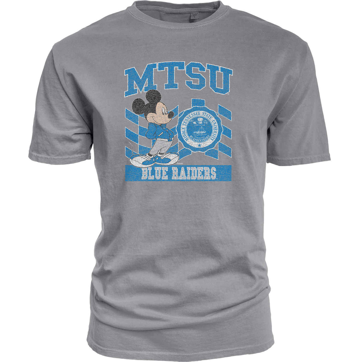 MTSU Earned Letter Mickey Dyed Ringspun Shirt
