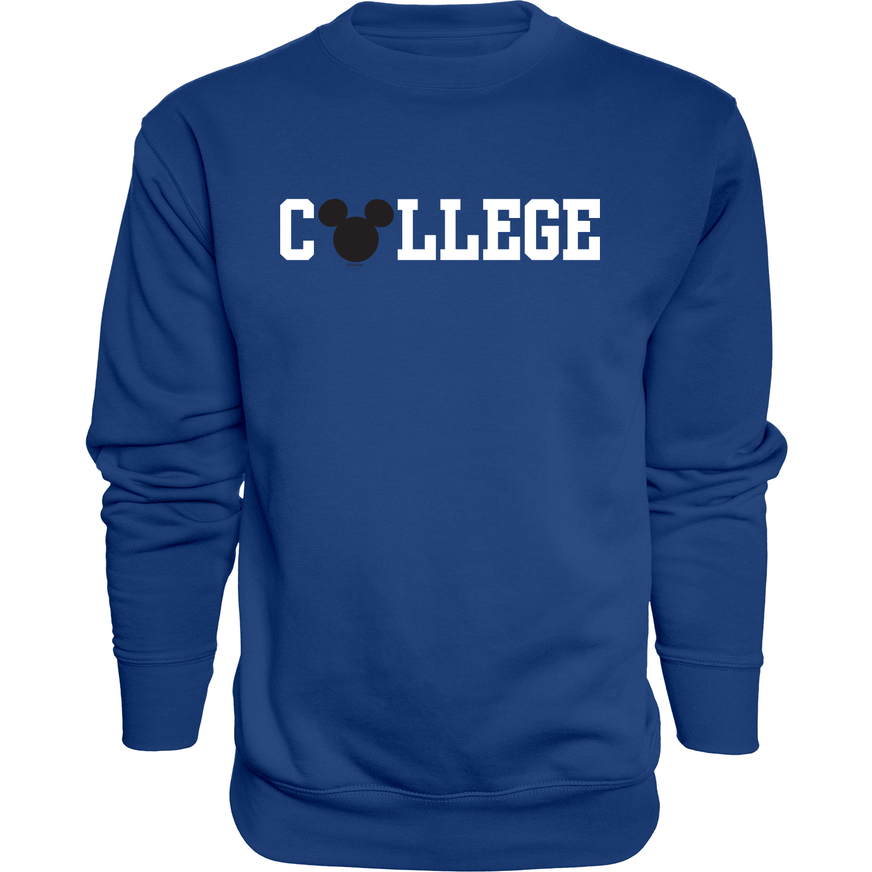 College Mickey Ears Fleece Sweatshirt