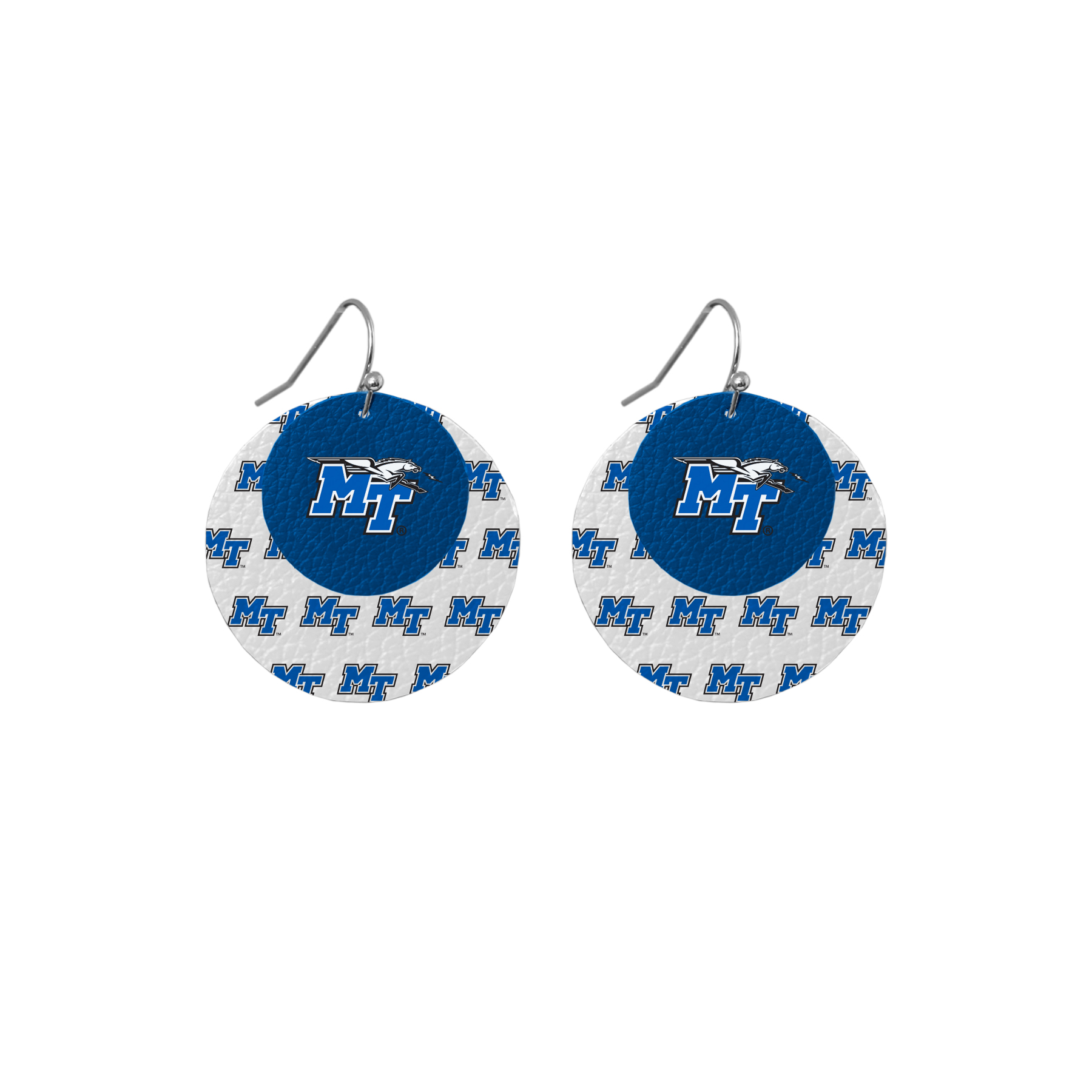 MT Logo w/ Lightning Leather Layered Earrings