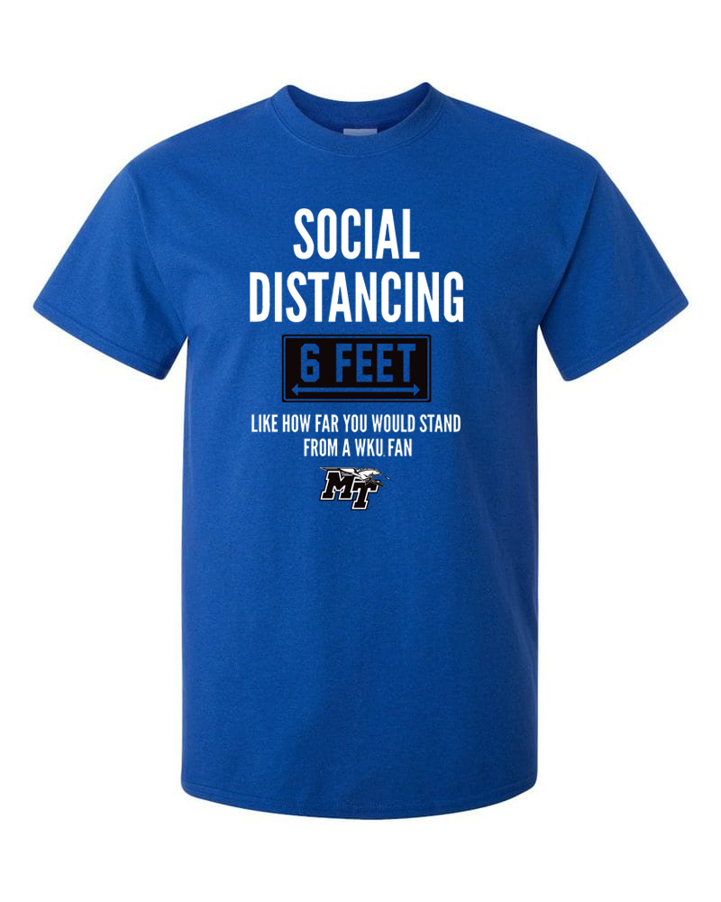 Social Distancing MTSU Fan Tshirt
