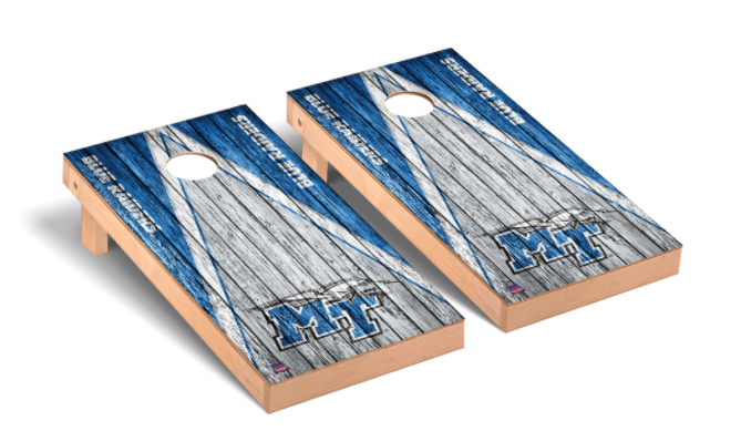 Middle Tennessee Blue Raiders Regulation Cornhole Game Set Triangle Weathered Version