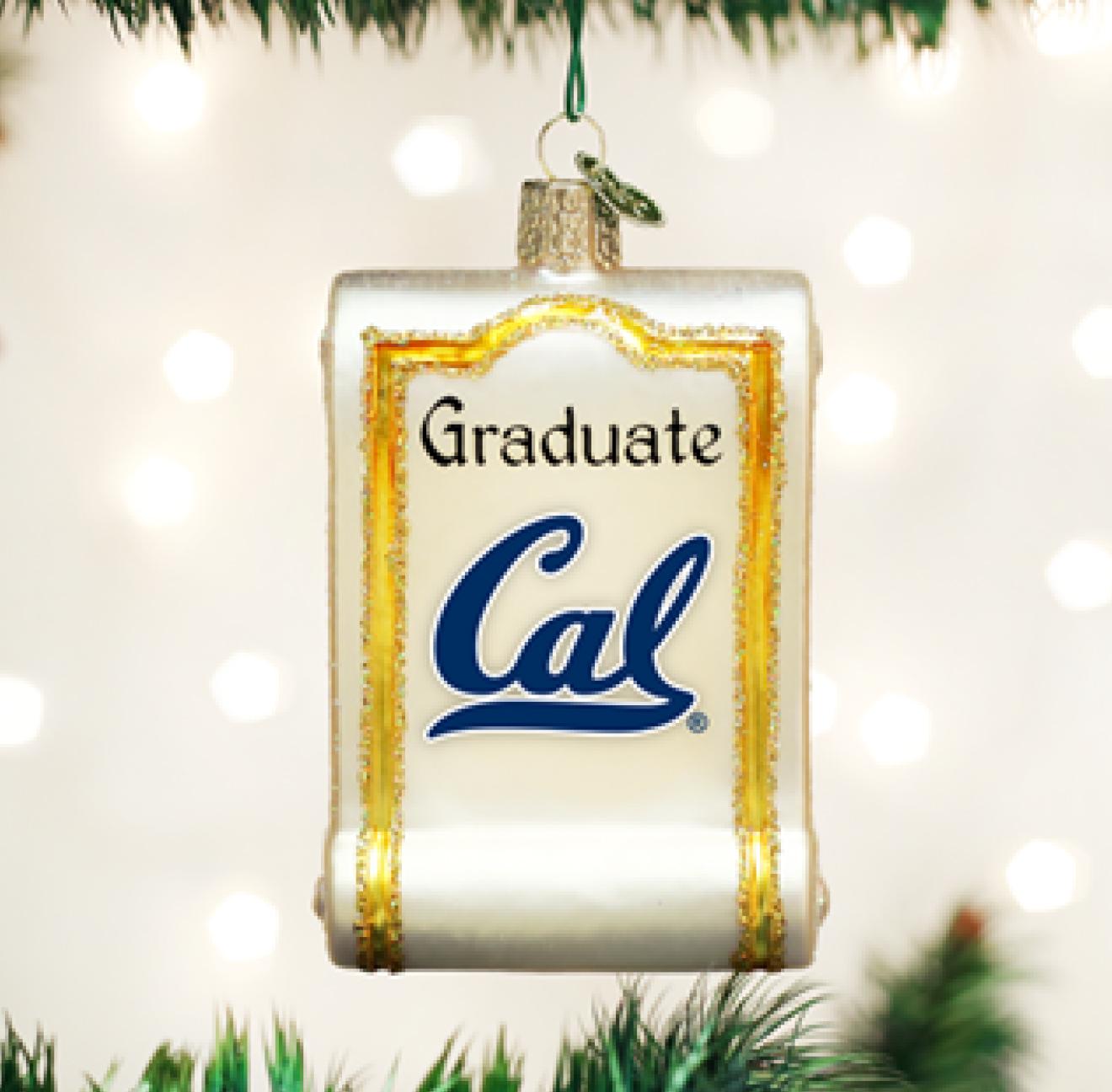 Old World Christmas Cal Diploma Ornament