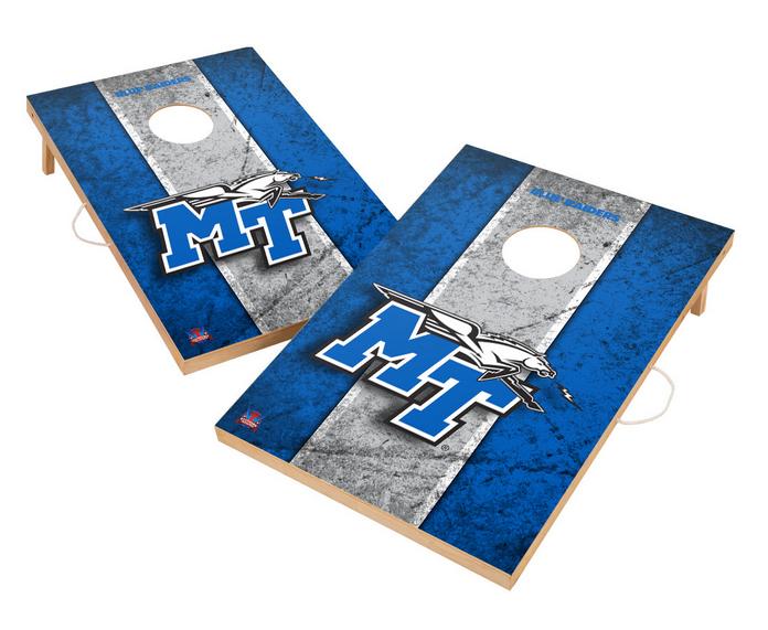Vintage Middle Tennessee State University Blue Raiders VT - Solid Wood 2x3 Cornhole