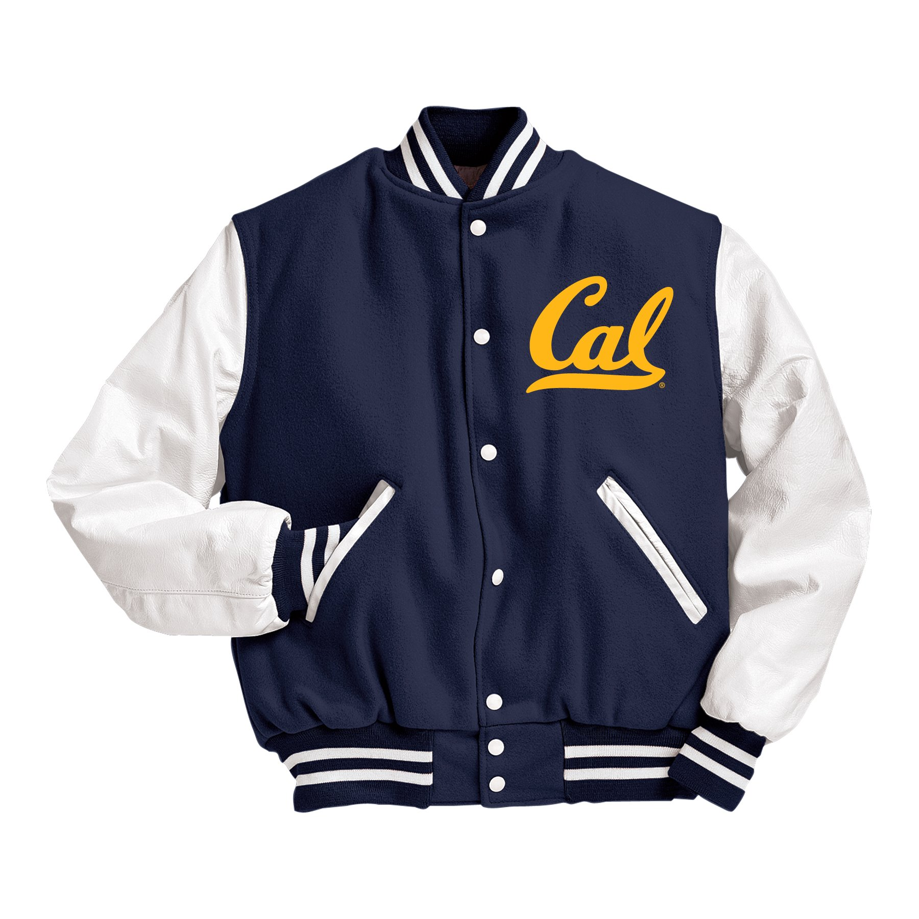 Cal Bears Men's Holloway Leather and Wool Letterman Jacket