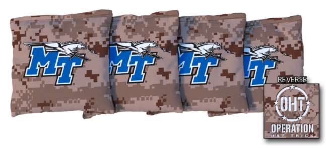 Operation Hat Trick Middle Tennessee State Blue Raiders Sand Regulation Corn Filled Cornhole Bags