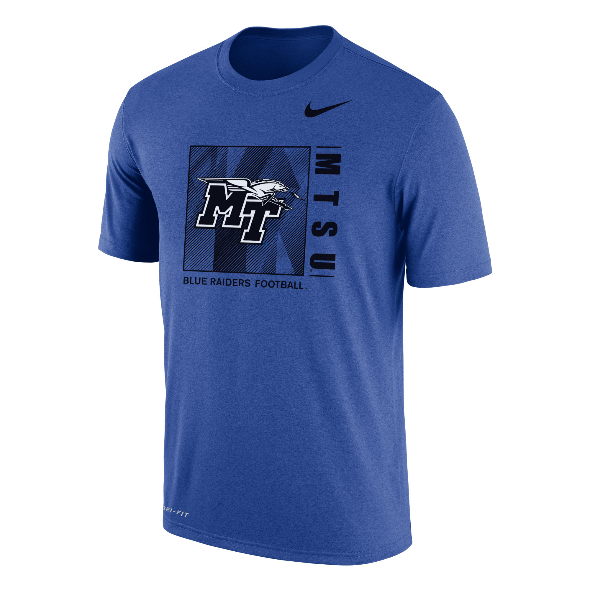 MTSU Blue Raiders Football Nike® Sideline DriFit Cotton Shirt
