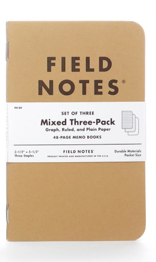 Field Notes Set of 3 -- Mixed Memo Books